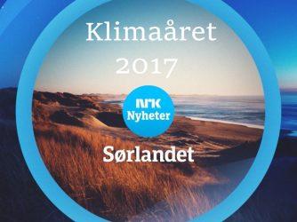Svein Tveitdal oppsummerer Klimaåret 2017 på NRK Sørlandsendinga