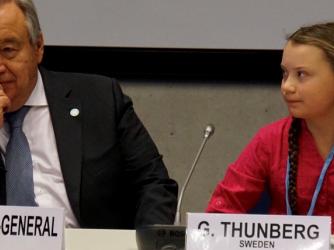 Svensk skoleelev med klimatoppmøtets viktigste tale