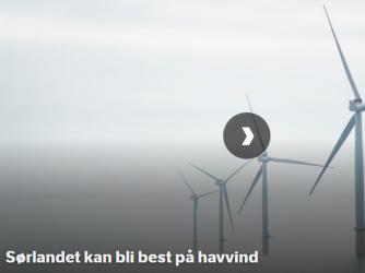 Unikt samarbeid om Havvind på Sørlandet